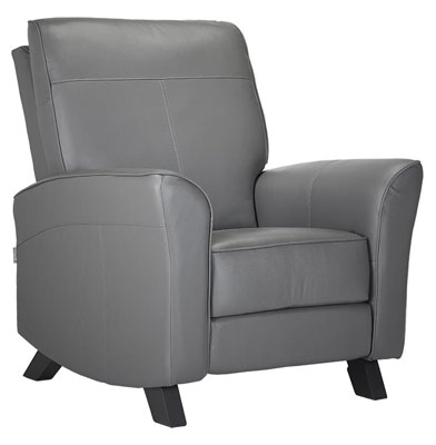 grey leather glider