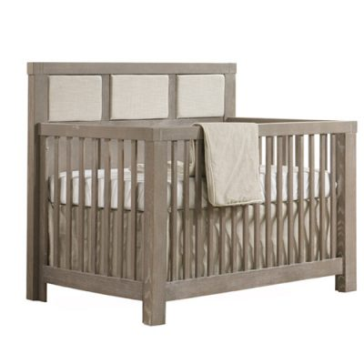rustico baby crib with weaved panel