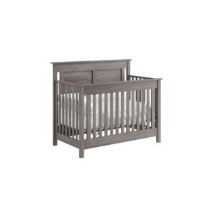 convertible grey crib to bed