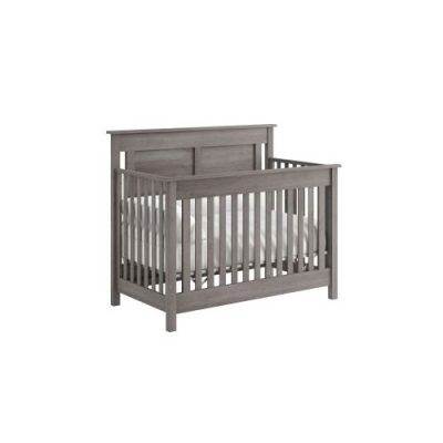 convertible grey crib to bed