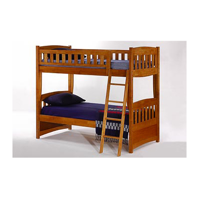 brown twin bunkbed