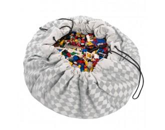 Play & Go Playmat with diamond grey pattern
