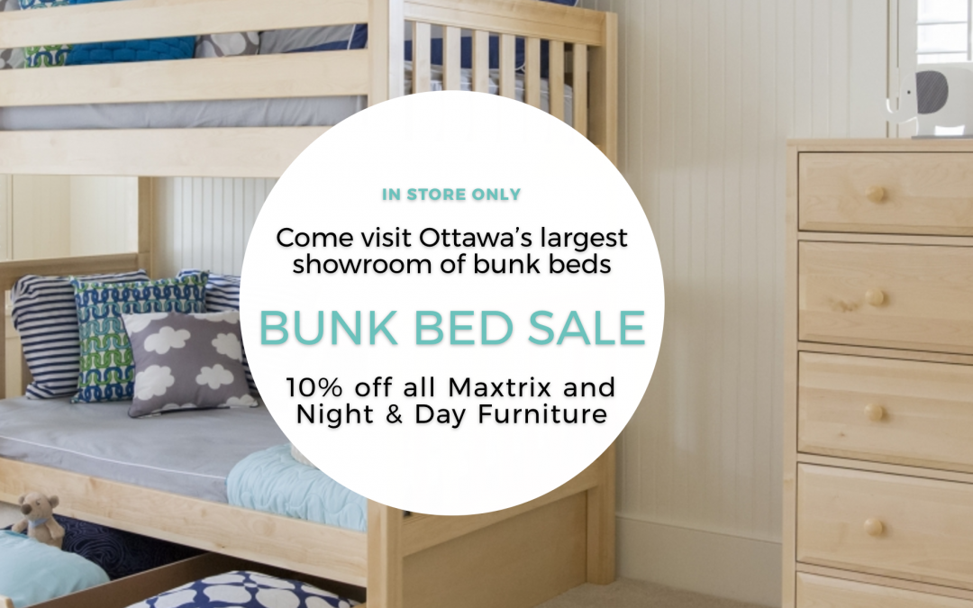 Maxtrix + Night and Day Furniture Bunk Bed Sale in Ottawa