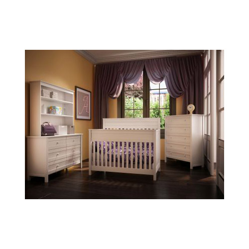 white terrace solid wood crib
