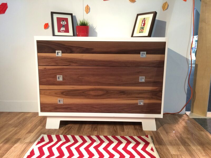 Pomelo 3 Drawer Walnut and white