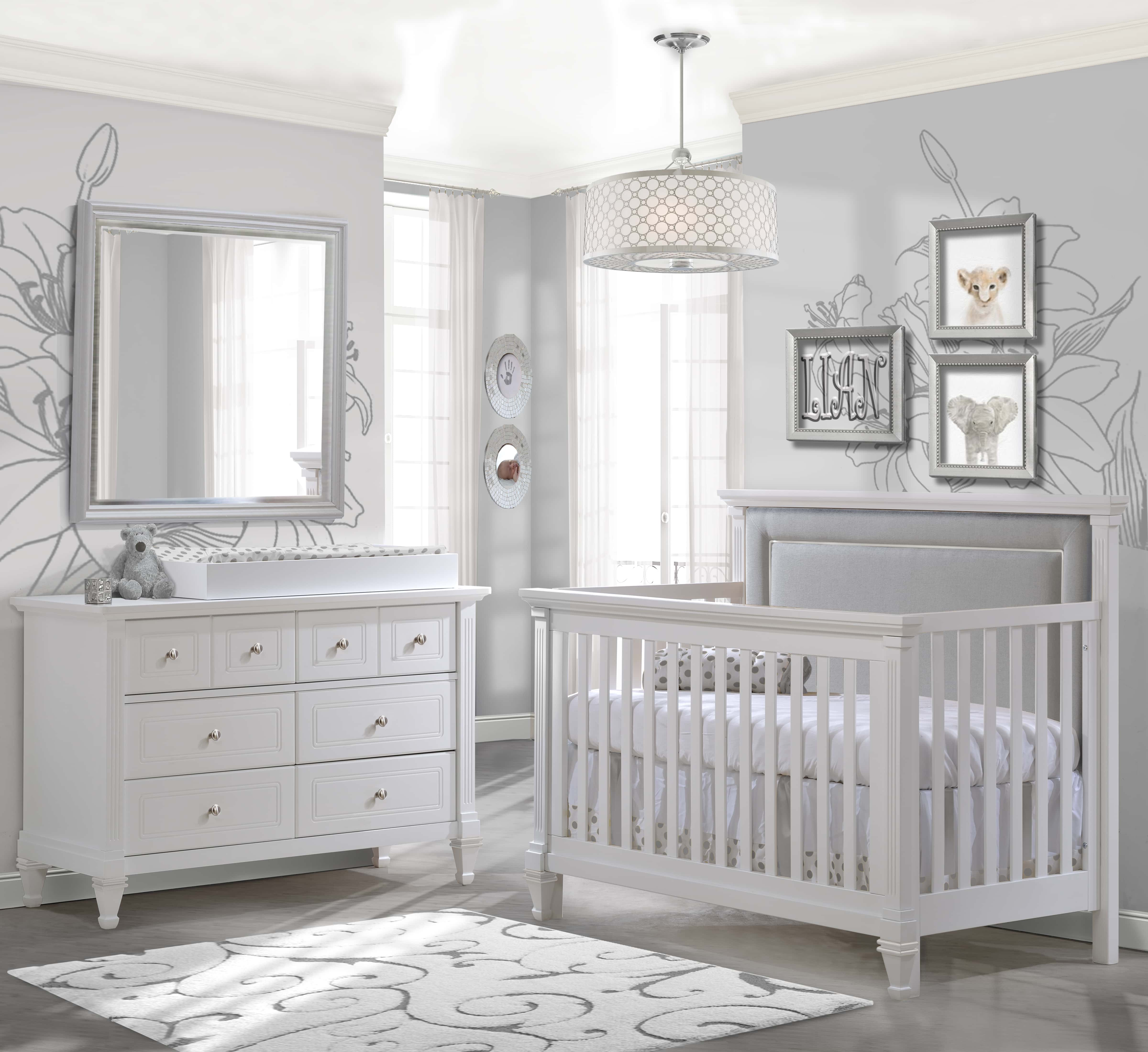 Belmont Convertible Crib With Tufted Panel Sleepy Hollow