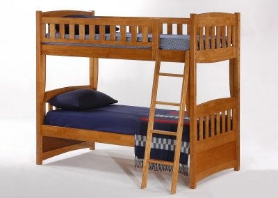Cinnamon Twin Twin Bunk Medium Oak