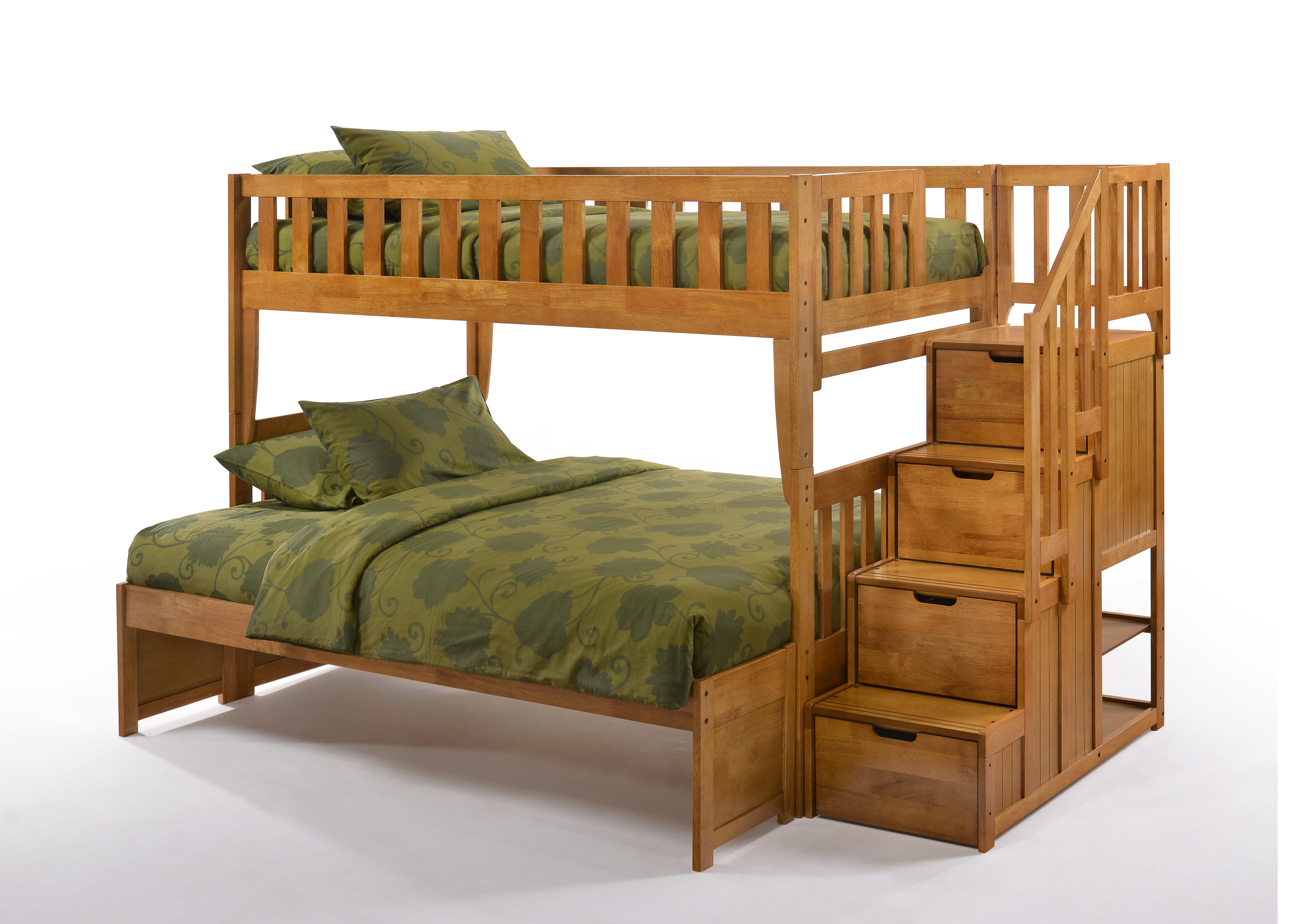 Night And Day Peppermint Stair Bunkbed Twin Double