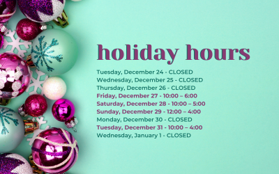 Holiday Hours at Sleepy Hollow