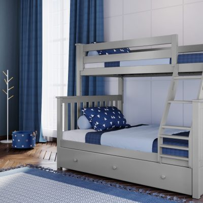 Kent Twin/Full Bunk Bed with Angled Ladder